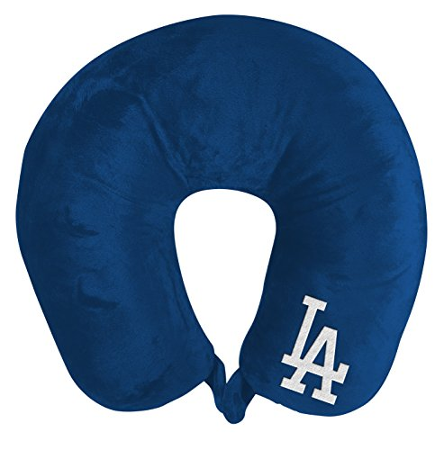 y MLB Los Angeles Dodgers Applique Neck Pillow, Travel Pillow, One Size ()
