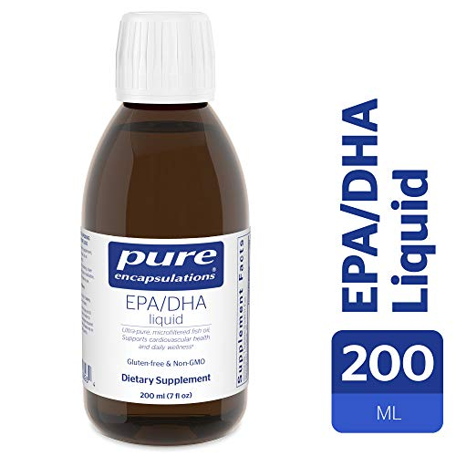 Pure Encapsulations - EPA/DHA Liquid - Ultra-Pure, Molecularly Distilled Fish Oil Liquid - Lemon Flavor - 200 ml (7 fl oz)