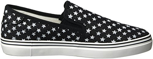 Tamaris Women's 24615 Loafers, Braun (Platinum Stru.949) Black (Black Stars 027)
