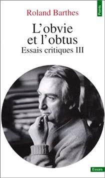 L'obvie et l'obtus par Barthes
