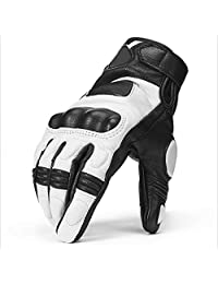 shoutao Gloves Motorcycle Gloves Four Seasons Knight Gloves Motorcycle Riding Gloves Waterproof (Color : White, Size : XL)