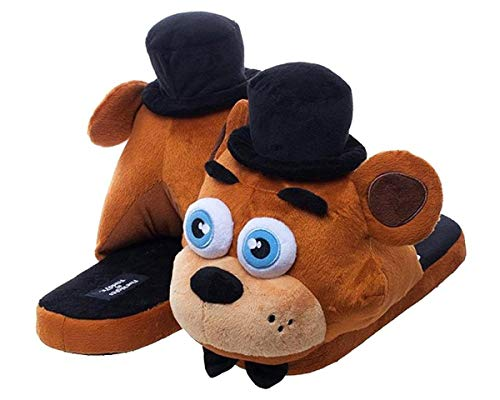 Five Nights at Freddy's Fazbear Adult-Sized Plush Slippers (L)