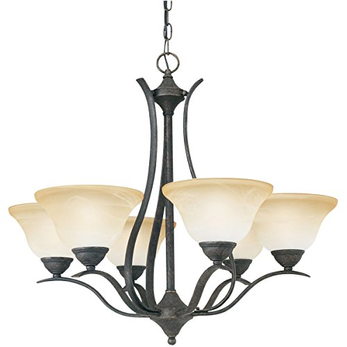 Twenty Six Light Chandelier - Thomas Lighting SL8636-22 Prestige 6-Light Sable Bronze Chandelier, Six