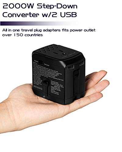 2000Watts Electric Power Converter Step Down Voltage 220V to 110V for US Electric Appliances Like...