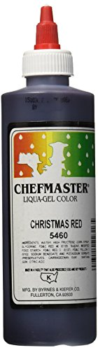 Chefmaster Liqua-Gel Food Color, 10.5-Ounce, X-Mas Red by Chefmaster