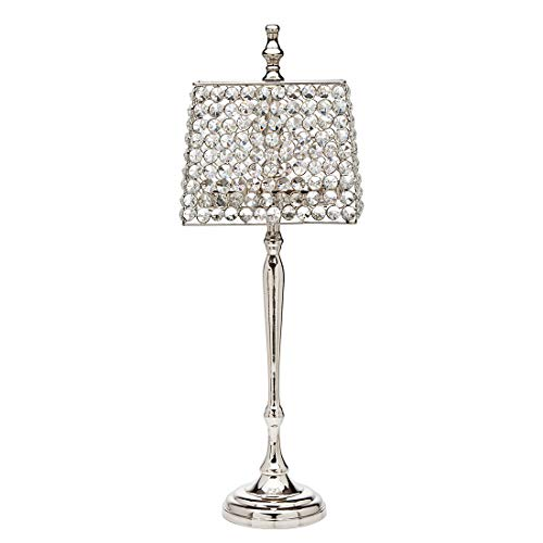 Godinger Lamp Shade Tea Light Holder Candle Wedding Holiday Decoration Crystal (Tea Light Lamp With Shade)