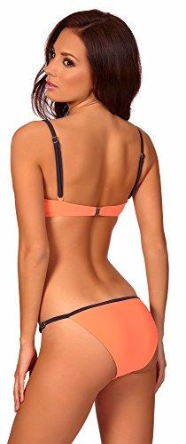 aQuarilla Conjuntos de Bikinis para Mujer Malaga Melocotón