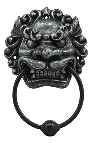 Ebros Far East Oriental Mushu Chinese Dragon Door Knocker Figurine Resin With Metal Ball Ring