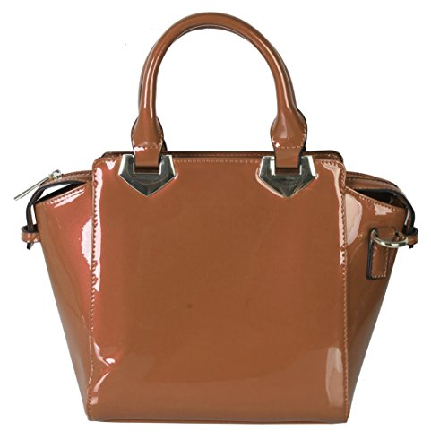 rimen-co-shiny-patent-satchel-small-purse-bag-women-handbag-accented-with-removable-strap-top-handle