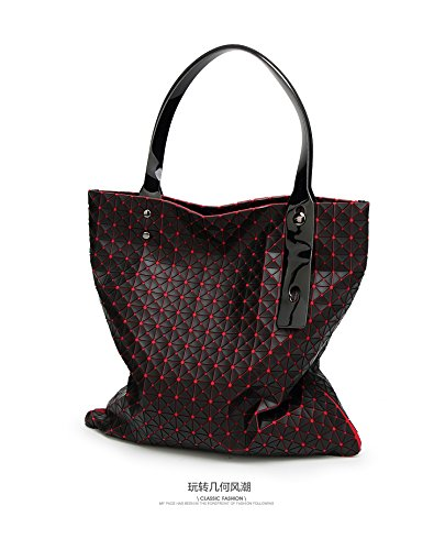 Quilted Geometry White Mosaic Gray Bag Gel Silica Bags Handbag Women Geometric Shoulder Tote qx1XqSn