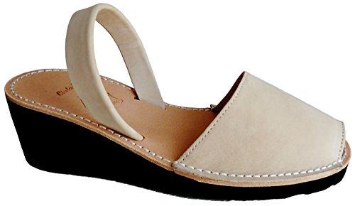 … con cm 8 de 4 sandalias abarcas cuña Natural albarcas Avarcas colores nobuck varios menorquínas tacón nOFRwq0AS