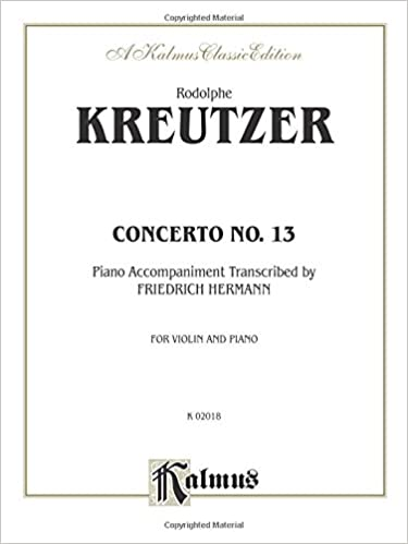 Concerto No. 13 (Kalmus Edition)