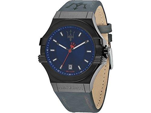 Maserati watch R8851108021 Potenza Blue Man Silicone Calendar