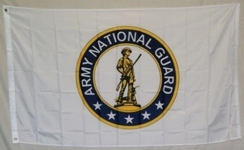 New 3'X5' National Guard Polyester Flag (National Guard Border)