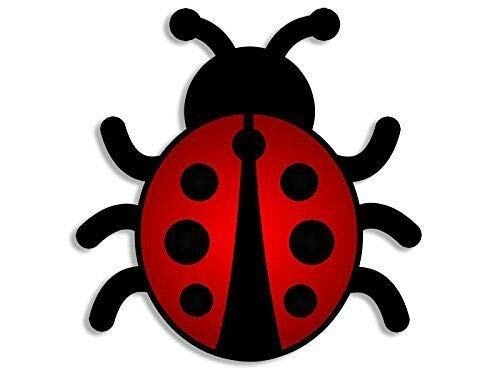 MAGNET 4x4 inch Lady Bug Shaped Sticker (cute ladybug insect animals scrapbook collect) Magnetic vinyl bumper sticker sticks to any metal fridge, car, signs ()