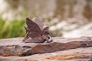 """5.25"""" Inspirational Statuary Whimsical Laying Fairy Outdoor Garden Figure"""