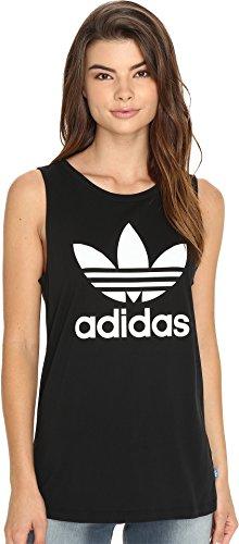 Adidas Womens Tank Top (adidas Originals Women's Originals Loose Tank, Black/White, Large)