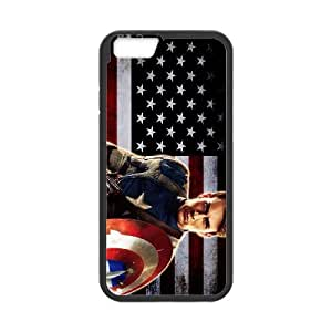 Captain America Iphone6 plus 5.5 inch Phone Case Black white Gift Holiday Gifts Souvenir Halloween Gift Christmas Gifts TIGER156980