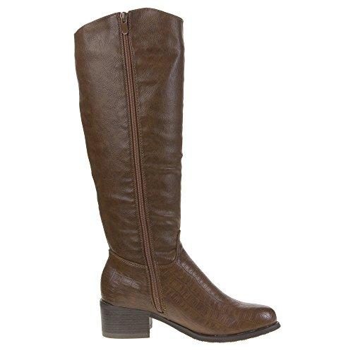 Mujer Guantes, 319de PG, botas marrón