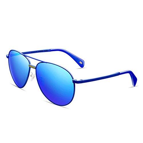 visage réfléchissants ZY lunettes soleil couleur Film nouvelles femmes lunettes polarisées de B rond verres hommes et de soleil fqRtrSqxn