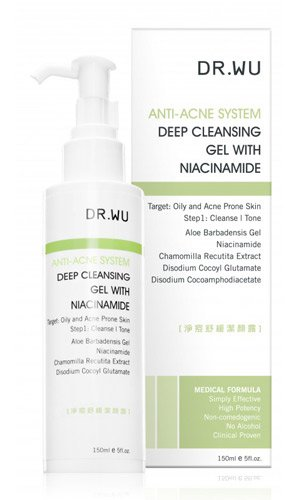 Dr. Wu Anti-Acne System Deep Cleansing Gel with Niacinamide, 5 oz / 150ml