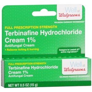 Walgreens Terbinafine Hydrochloride Cream 1% Antifungal Crea