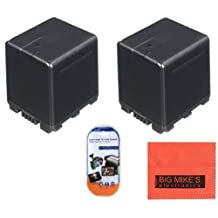 Pack of 2 VW-VBG260 Batteries for Panasonic HDC-HS250 HDC-HS300 HDC-HS700 HDC-SD600 HDC-SD700 HDC-TM300 HDC-TM700 HDC-SDT750 Camcorder + More!!