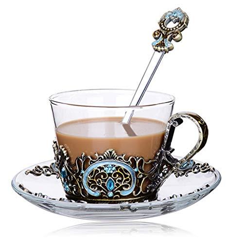 Glass Tea Cup Coffee Mug,Hand Blown Glass Drinking Mug Made Of Lead-free Glass And Enamels