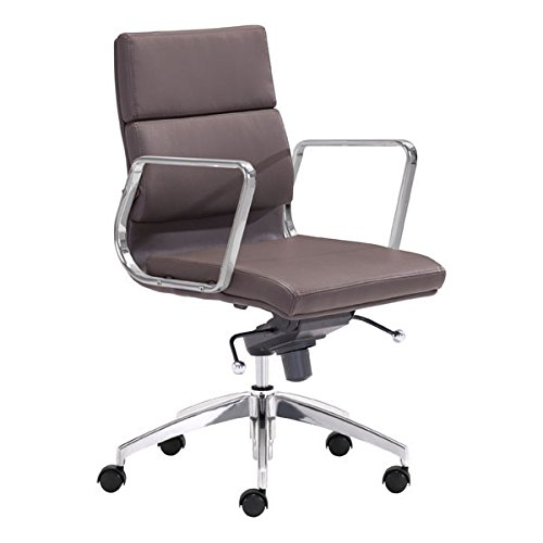 Zuo Modern Engineer Low Back Office Chair, Espresso