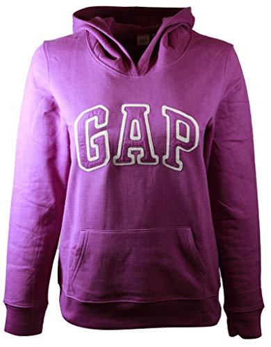 (GAP Womens Fleece Arch Logo Pullover Hoodie (Medium, Purple))
