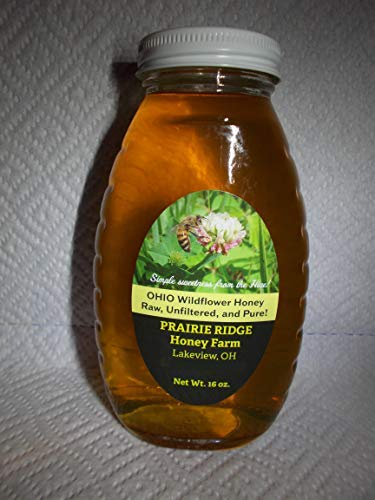 (Pure, Raw, Unfiltered Ohio Wildflower Honey 16 oz.)
