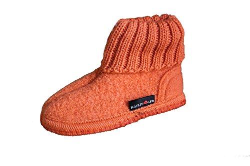 Haflinger, Pantofole donna arancione Koralle