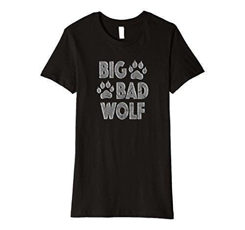 Womens Big Bad Wolf Halloween Costume Paw Print T-Shirt XL Black for $<!--$18.99-->