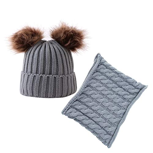 Palarn Newsboy Caps Bomber Cowboy Hats Berets Two Pieces Of Children's Knitted Cap Keep Warm Neckerchief Winter Hat
