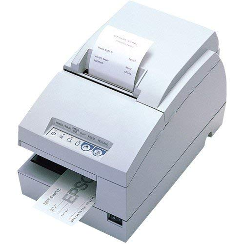 Epson Tm-u675 Dot Matrix Receipt Slip & Validation Printer Usb No Display Module/Hub Port-Cool White No Micr No Autocutter (Renewed)