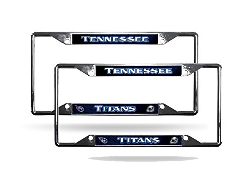 Tennessee Titans NFL Chrome (2) EZ View License Plate Frame Set (Tennessee Plate Chrome License Titans)