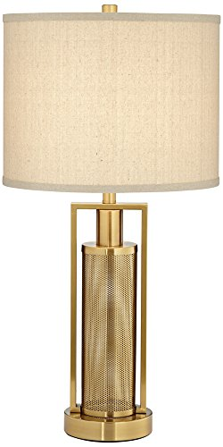 Milly Brass Metal Table Lamp with Night Light