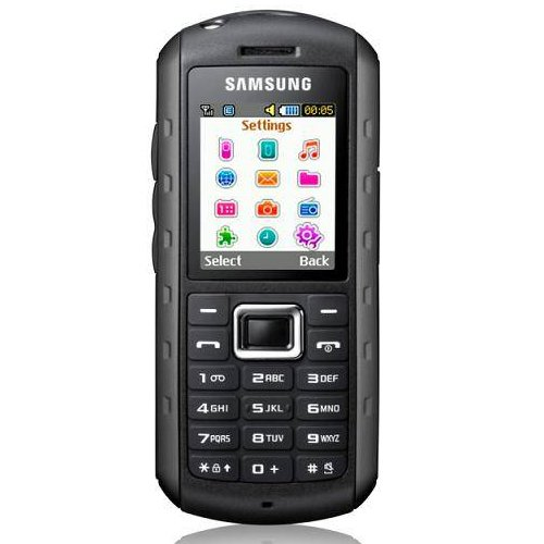 Samsung B2100 Unlocked Quad-Band Phone, Extreme Anti-Shock, Waterproof, Built-in Flashlight, Bluetooth-International Version-Black