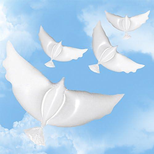 ゴーゴ12個の大型白い鳩のバルーン、生分解性ヘリウムバルーン(結婚式/誕生日/儀式)