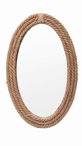 Ideal Gift for Weddings P2 HG Global Spa Home Reiki and use for Wall Decor Aromatherapy Hosley Oval Jute Glass Wall Mirror- 19 High Special Occasions