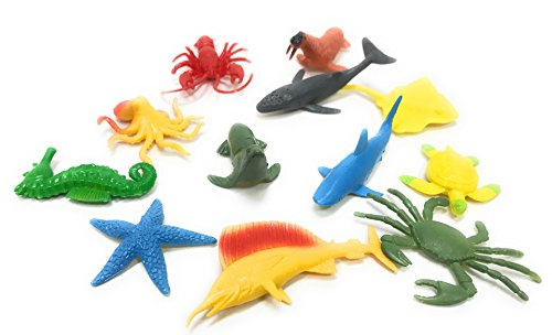 Stingray Water - Oojami Underwater Sea Animals, Assorted Styles, 12 Count