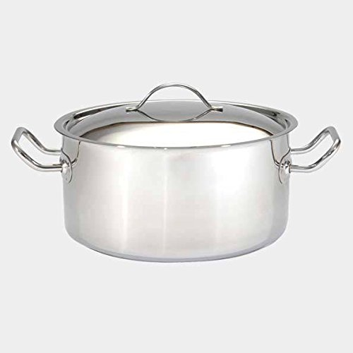 De Buyer Professional 50 cm Stainless Steel Appety Stewpan with Two Handles and Lid 3454.50 by de Buyer Professional