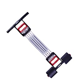 HindaWi 3 in 1 Multifunction Springs Chest Muscle Expander Pulling Exerciser With Feet Home Fitness Equipment