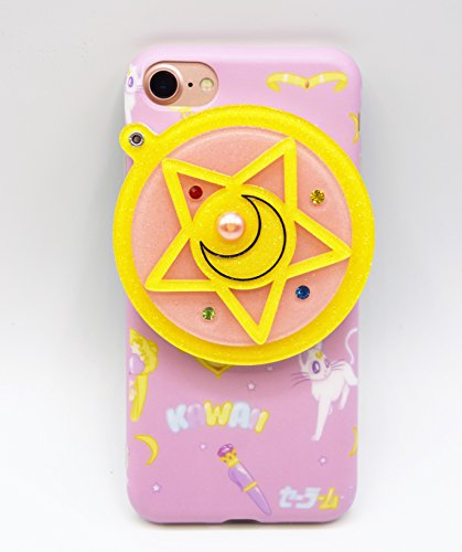 iPhone 6/6s Case, LittleTaoTao Cute 3D Japanese Cartoon Sailor Moon Pentacle Star with Hidden Back Mirror Soft Protective TPU Case for Apple iPhone 6/6s 4.7