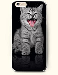 iPhone 6 Case 4.7 Inches Cat Sticking out Its Tongue - Hard Back Plastic Phone Cover OOFIT Authentic