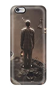 Fashion Tpu Case For Iphone 6 Plus- Running Out Of Time Defender Case Cover