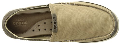 excellent cheap online Crocs Walu Luxe Canvas Slip-On Loafer Khaki/Mushroom cost for sale outlet locations cheap online clearance sale online pay with visa jTcbIEnhP