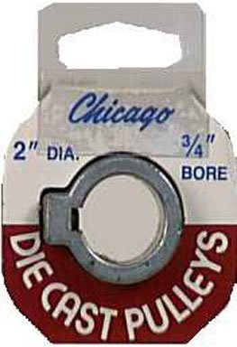 "Chicago Die Cast Single V Grooved Pulley A Section Belt Width 2 "" Dia X 3/4 "" Bore Bulk"
