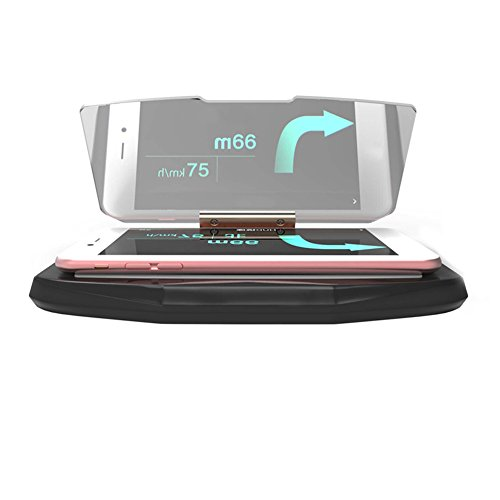 Price comparison product image Car HUD Head Up Display Speed Warning GPS Navigation HUD Bracket Head Up Display For Smart Mobile Phone Car Stand Folding Holder