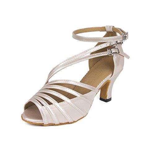 Lanpet Dance Shoes for Women Satin Salsa Latin Tango Ballroom Dancing Class Shoes High Heels